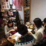 画像:糸巻きボタン・ドーセットボタンワークショップ 吉祥寺クワランカ・カフェ