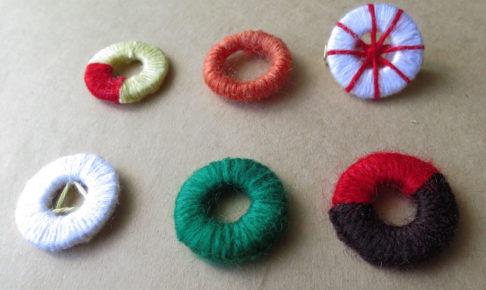 画像: 糸巻きボタン/ドーセットボタン 作り方