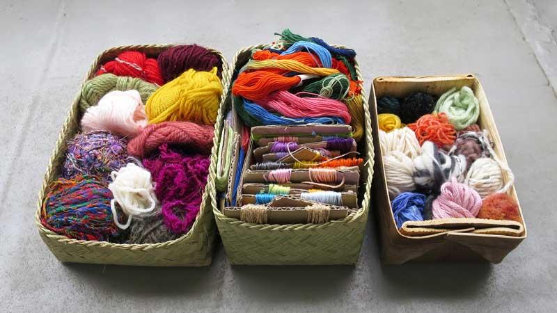 画像: 糸巻きボタンの作り方 糸